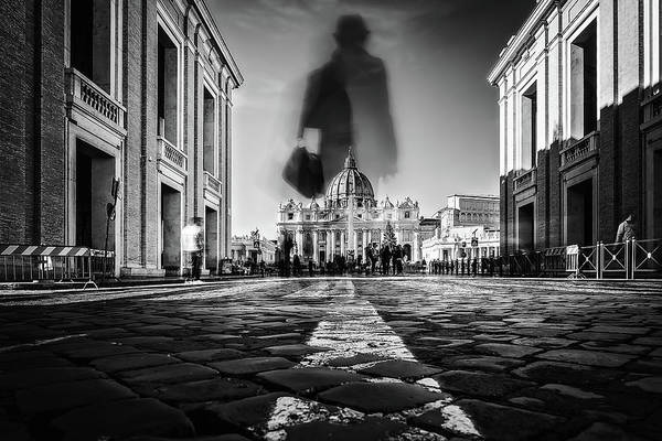 Cathedral Photograph - Road To St.peter by Massimiliano Mancini