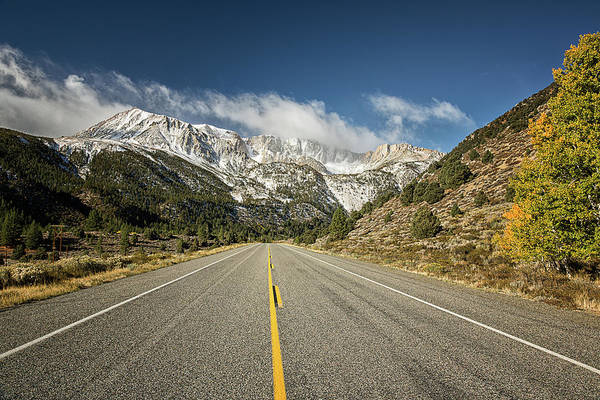Tioga Photograph - Road To The Sierra Nevada Mountains by Alice Cahill