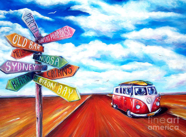 Wall Art - Painting - Road Trip by Deb Broughton