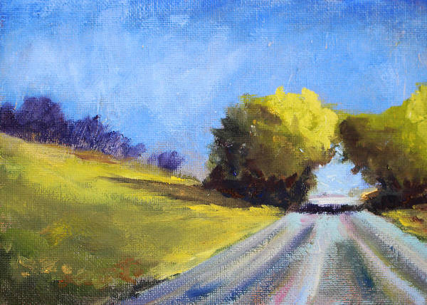 Prairie Grass Painting - Road Trip by Nancy Merkle