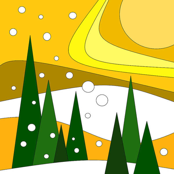 Digital Art - Road Trip Vi - Snow And Sun by Val Arie