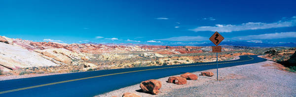 Valley Of Fire Photograph - Road Valley Of Fire State Park Overton by Panoramic Images
