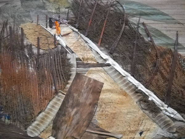 Eco Friendly Mixed Media - Road With Dense Fencing  by Basant Soni