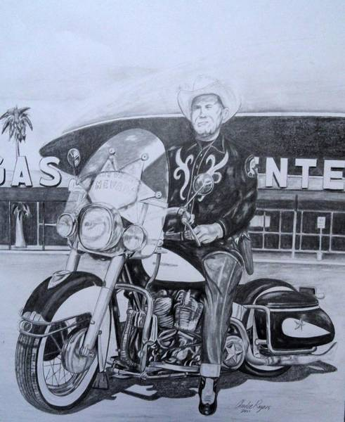 Wall Art - Drawing - Roadking Of Vegas by Charles Rogers