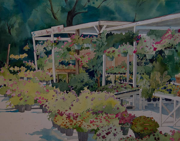 Painting - Roadside Stand by Terry Holliday