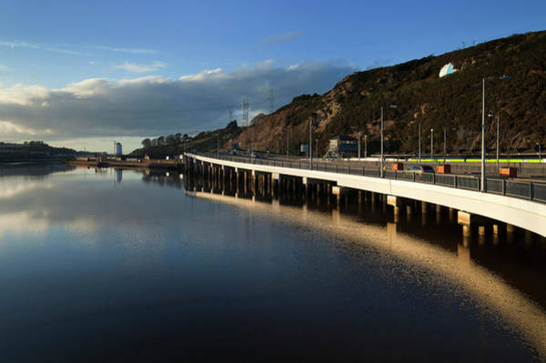 Suir Photograph - Roadway Built Above The River by Panoramic Images