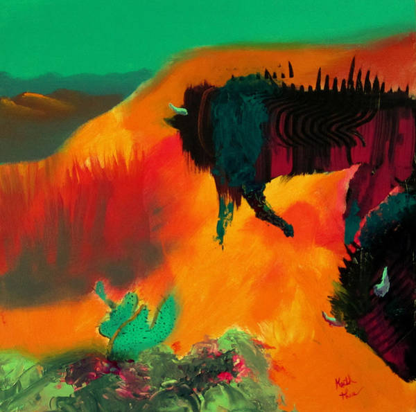 Painting - Roaming In The Desert by Keith Thue