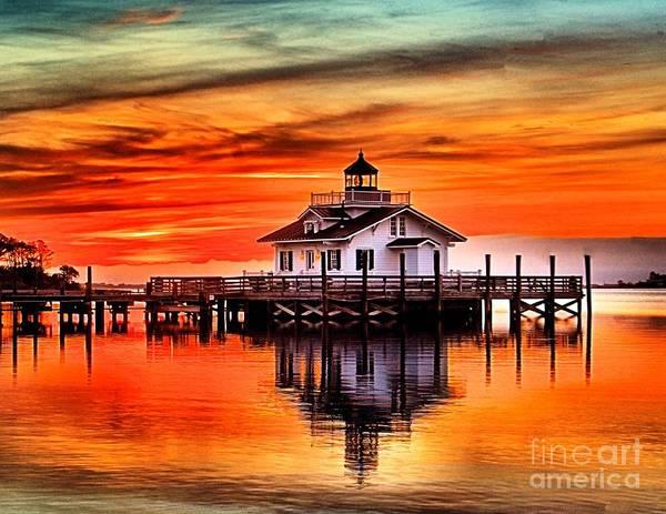 Photograph - Roanoke Marshes Dawn by Nick Zelinsky