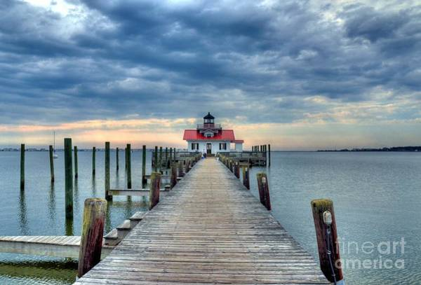 Photograph - Roanoke Marshes Light 2 by Mel Steinhauer