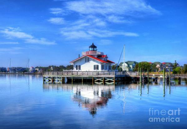 Photograph - Roanoke Marshes Light 3 by Mel Steinhauer
