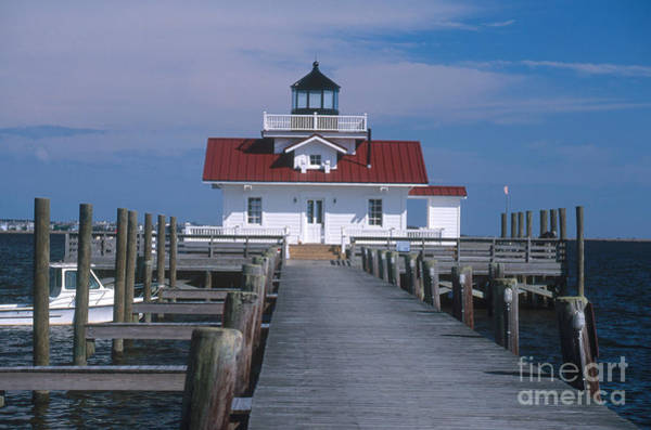 Roanoke Marshes Light Wall Art - Photograph - Roanoke Marshes Lighthouse, Nc by Bruce Roberts