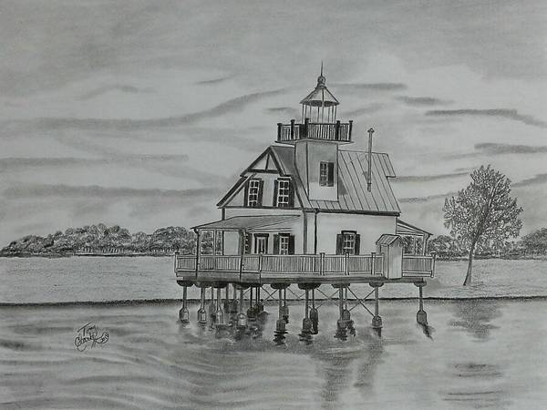 Roanoke River Lighthouse Art Print by Tony Clark