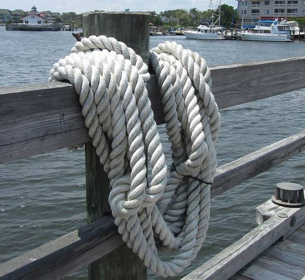 Screw Pile Wall Art - Photograph - Roanoke Rope by Cathy Lindsey