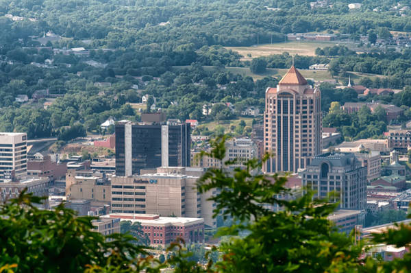 Photograph - Roanoke Virginia City Skyline On A Sunny Day by Alex Grichenko