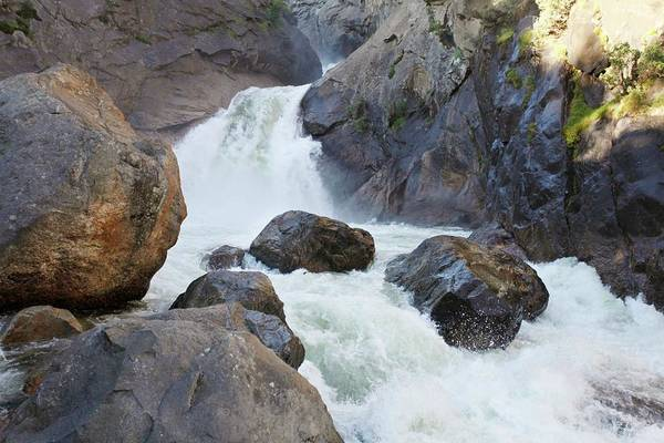 Kings Canyon Photograph - Roaring River Waterfalls by Michael Szoenyi/science Photo Library