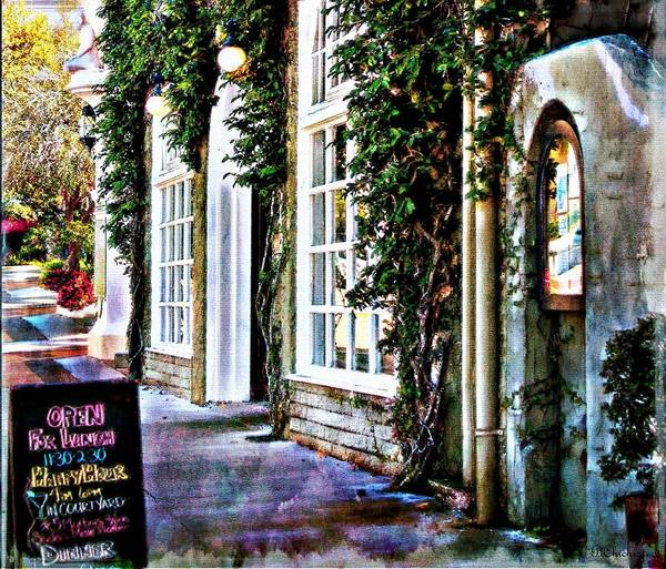 Dining Al Fresco Painting - Roast Restaurant Sarasota Florida by Barbara Chichester