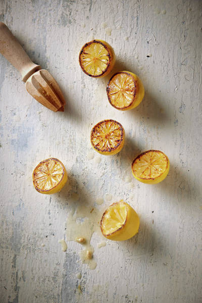 Lemon Photograph - Roasted Lemons by Lew Robertson