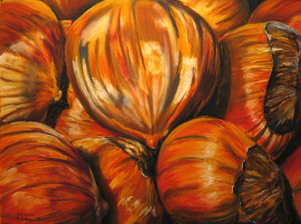 Pastel - Roasting Chestnuts by Outre Art  Natalie Eisen