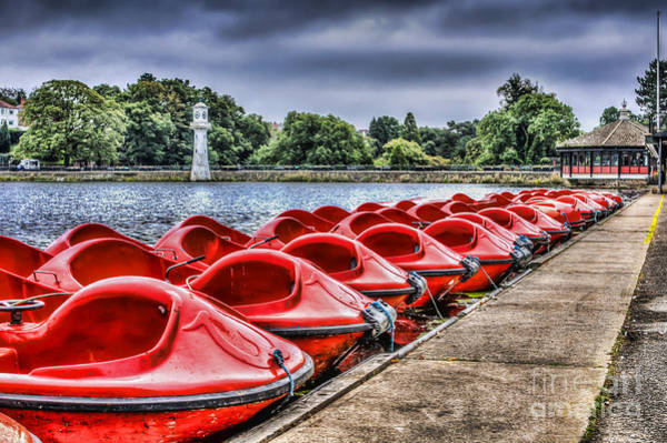 Swan Boats Photograph - Roath Park 2 by Steve Purnell