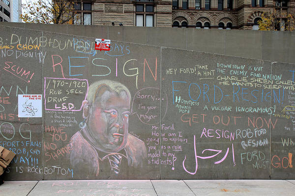 Photograph - Rob Ford 5 by Andrew Fare
