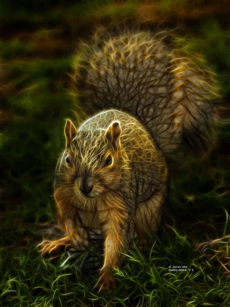 Digital Art - Robbie The Squirrel -0066 - F S by James Ahn