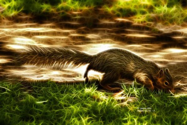 Digital Art - Robbie The Squirrel -0178 - F by James Ahn