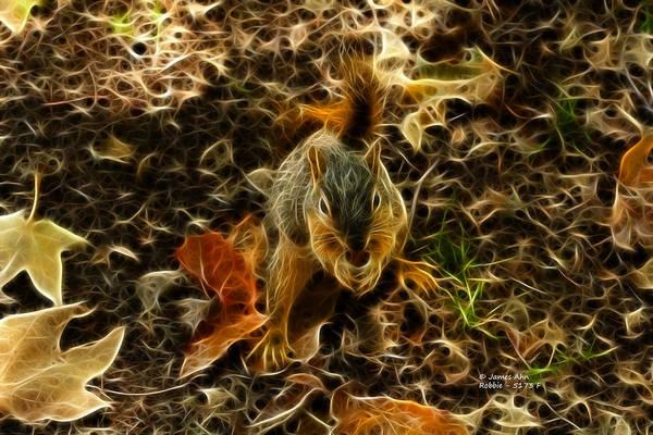 Digital Art - Robbie The Squirrel - 5173 F by James Ahn