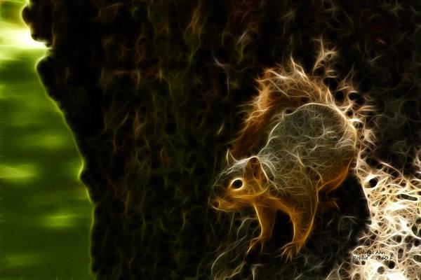 Digital Art - Robbie The Squirrel 7360 - F by James Ahn