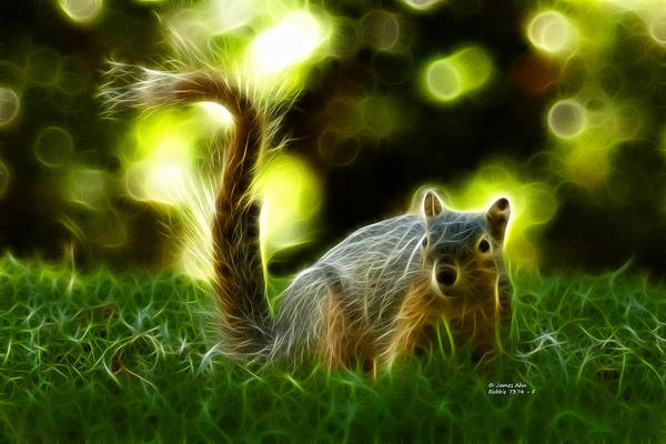 Robbie Digital Art - Robbie The Squirrel - 7374 - F by James Ahn
