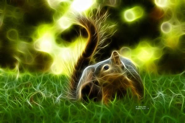Robbie Digital Art - Robbie The Squirrel - 7375 - F  by James Ahn