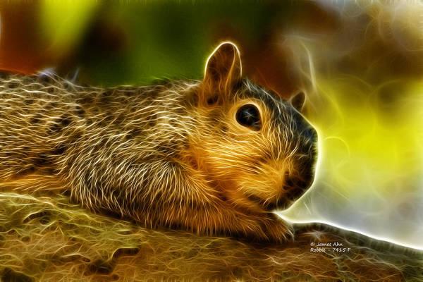 Digital Art - Robbie The Squirrel 7415 - F by James Ahn