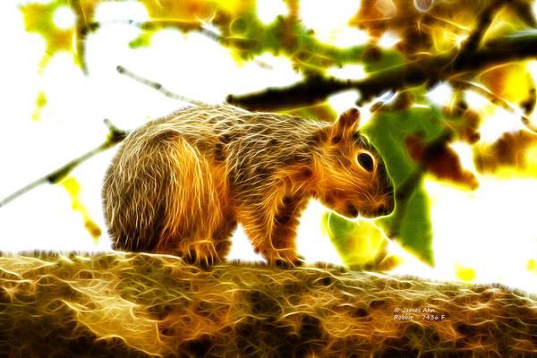 Digital Art - Robbie The Squirrel - 7436 F by James Ahn