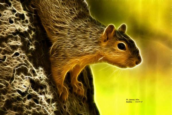 Digital Art - Robbie The Squirrel 7479 - F by James Ahn