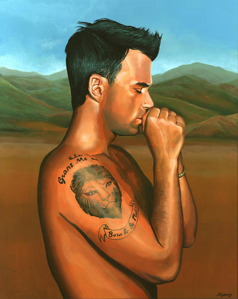 Albert Wall Art - Painting - Robbie Williams 2 by Paul Meijering