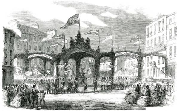 Wall Art - Drawing - Robert Burns  Centenary Procession by  Illustrated London News Ltd/Mar
