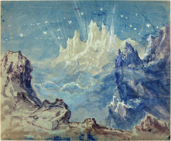 Wall Art - Drawing - Robert Caney, British 1847-1911, Fantastic Mountainous by Litz Collection