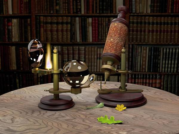 1665 Wall Art - Photograph - Robert Hooke's Microscope by Power And Syred, Libreria Bardon/science Photo Library