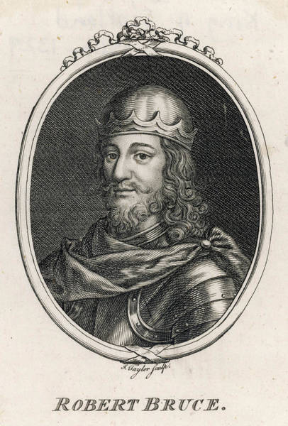 Wall Art - Drawing - Robert I, The Bruce (1274-1329) King by Mary Evans Picture Library