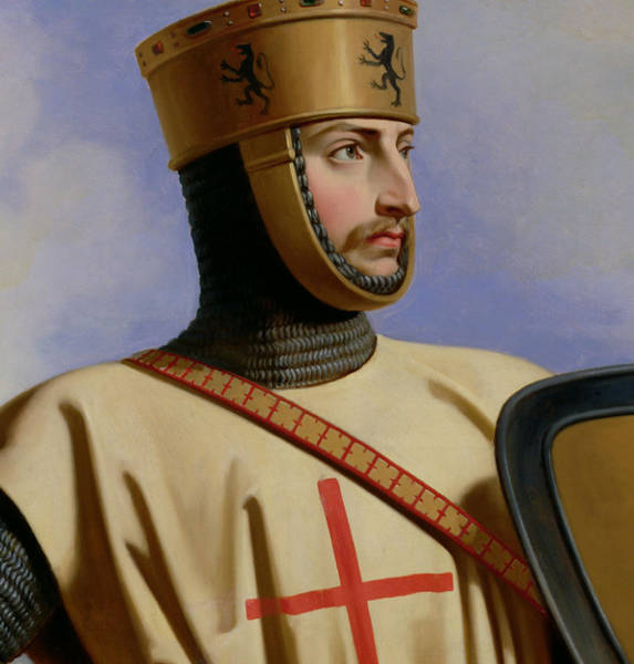 Comte Wall Art - Painting - Robert II Le Hierosolymitain Count Of Flanders by Henri Decaisne