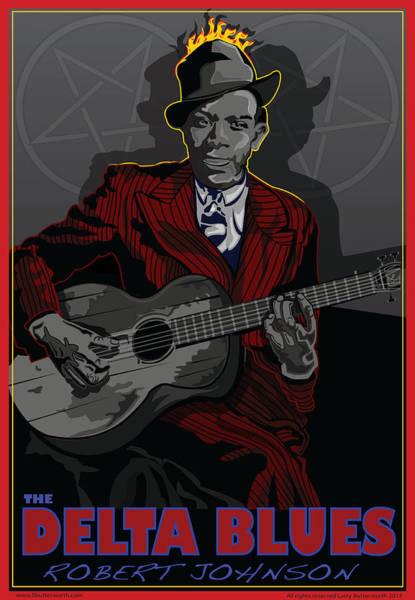 Wall Art - Digital Art - Robert Johnson Delta Blues by Larry Butterworth