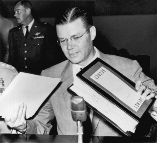 Cold War Photograph - Robert Mcnamara Testifies by Underwood Archives