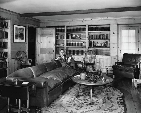 Coffee Photograph - Robert Montgomery In His Living Room by Fred R. Dapprich