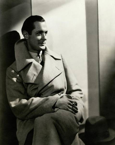 Photograph - Robert Montgomery Wearing An Overcoat by Toni Von Horn