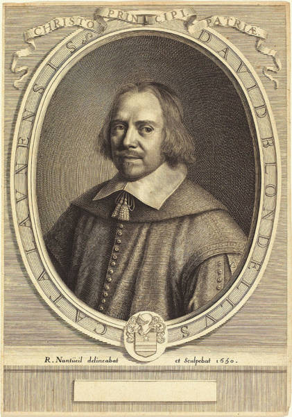 Wall Art - Drawing - Robert Nanteuil French, 1623 - 1678, David Blondel by Quint Lox