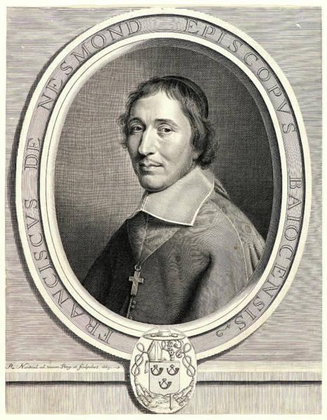 Wall Art - Drawing - Robert Nanteuil French, 1623 - 1678. Francois De Nesmond by Litz Collection