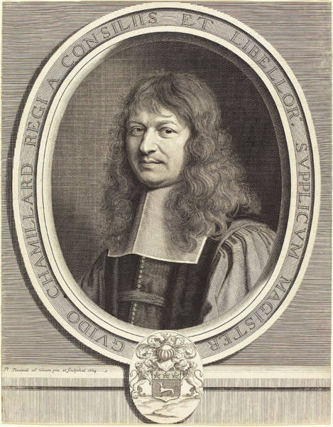 Wall Art - Drawing - Robert Nanteuil French, 1623 - 1678, Guy Chamillard by Quint Lox
