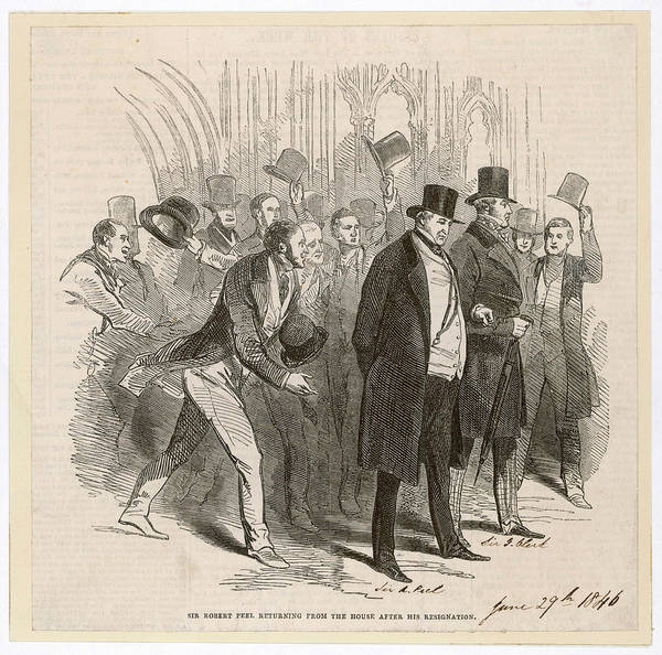 Options Drawing - Robert Peel Resigns As Prime  Minister by  Illustrated London News Ltd/Mar