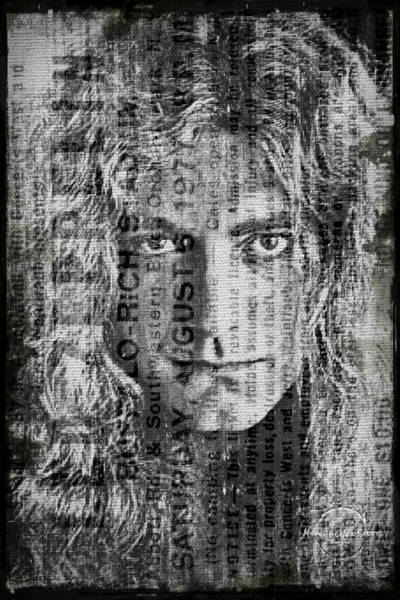 Wall Art - Digital Art - Robert Plant - Led Zeppelin by Absinthe Art By Michelle LeAnn Scott