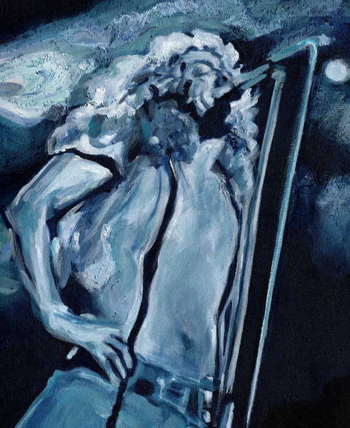 Painting - Your Stairway Lies On The Whispering Wind. Robert Plant by Tanya Filichkin
