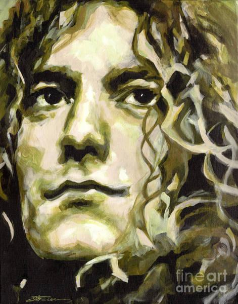 Robert Plant. Golden God Art Print